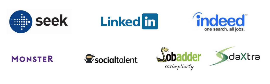 our sourcing partners are linkedin indeed jobadder social media