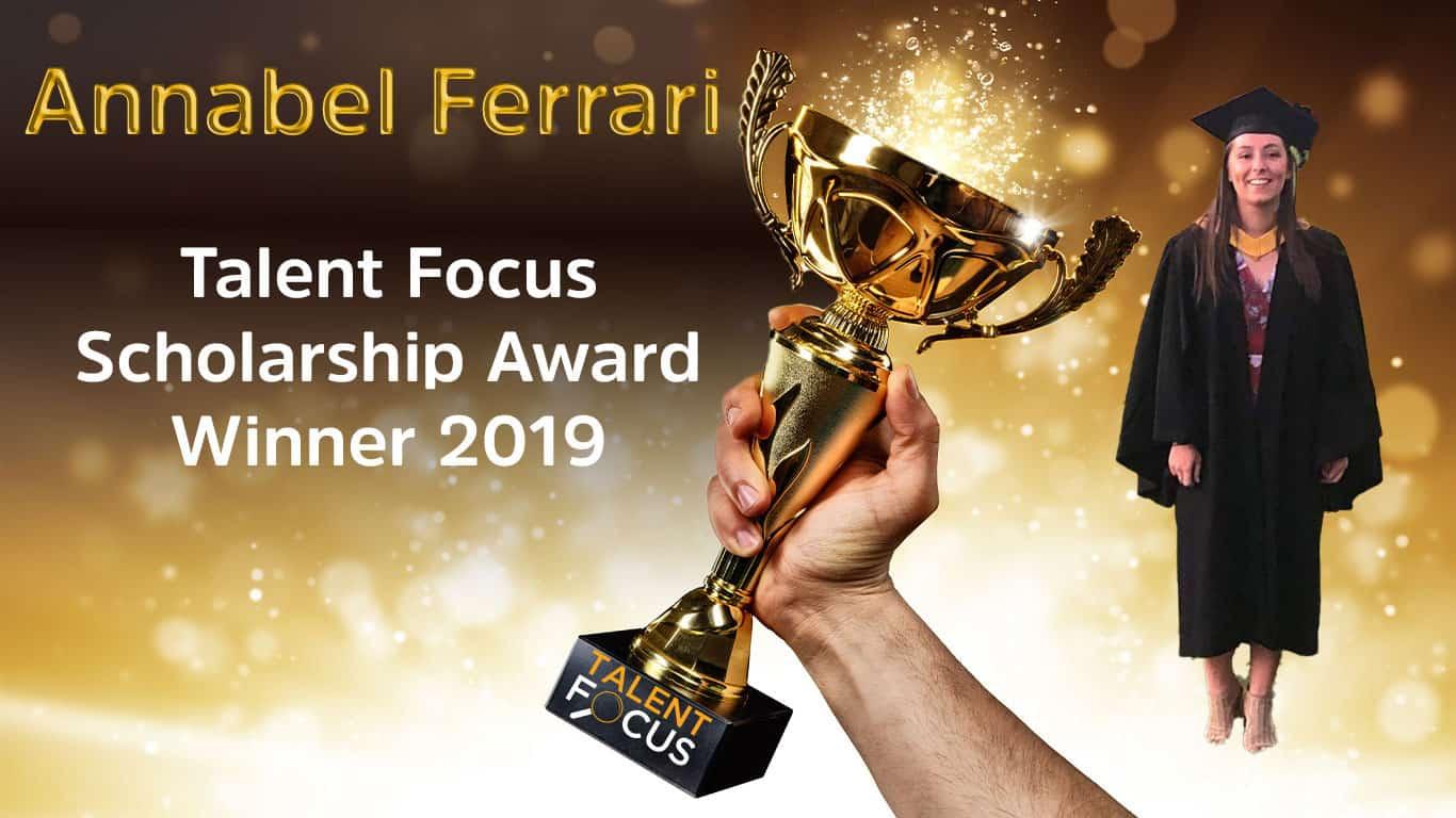 Talent Focus Scholarship Winner 2019 - Annabel Ferrari